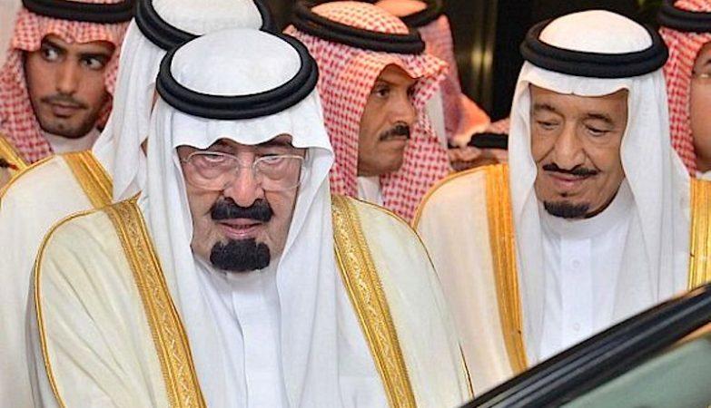 O rei da Arábia Saudita, Abdullah bin Abdulaziz Al Saud, e o o príncipe herdeiro, Salman.