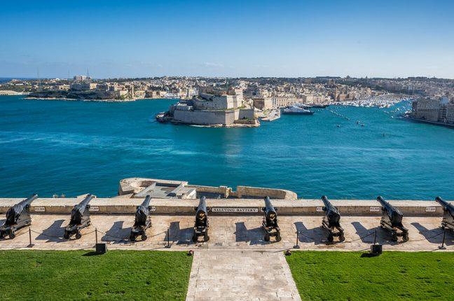O porto de La Valleta, em Malta