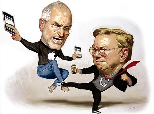 Apple vs Google, Steve Jobs vs Eric Schmidt
