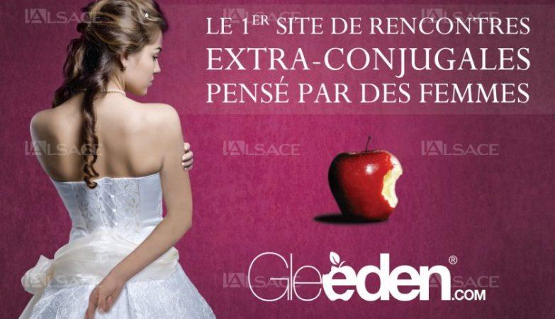 """A campanha """"Primeiro site de encontros extra-conjugais pensado por mulheres"""""""