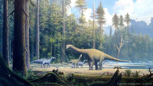 Os saurópodes anões terão encontrado uma ilha para sobreviver