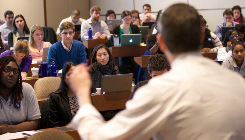 Uma aula de Direito na Universidade de Harvard