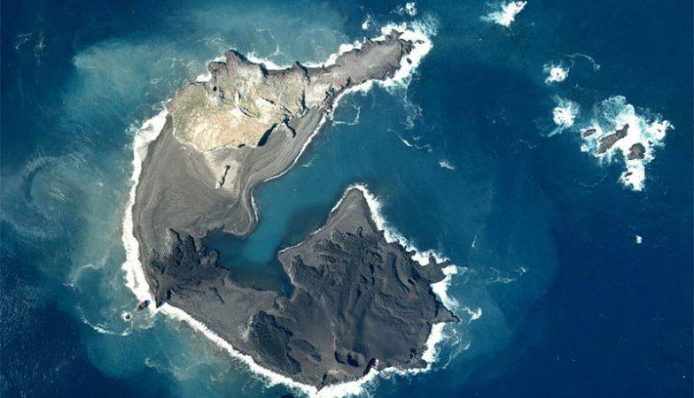 A ilha de Nishinoshima em 1978
