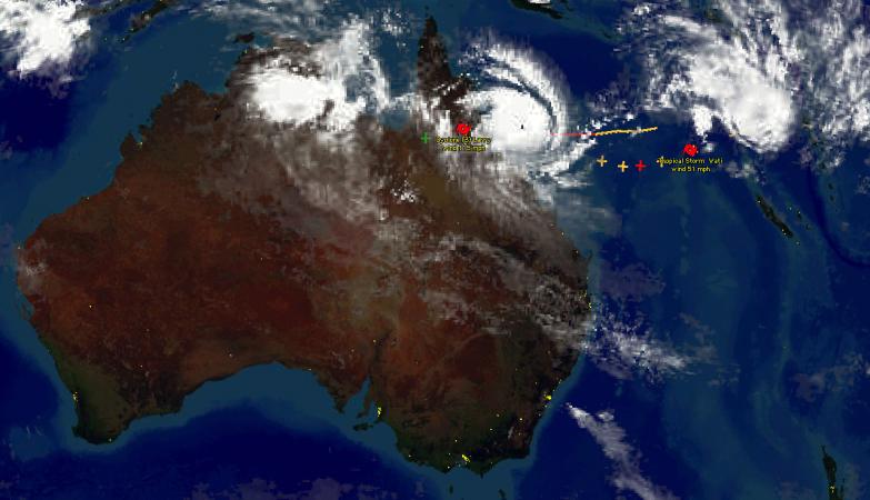 Márcia, ciclone de escala 5, atinge esta sexta-feira de manhã a costa de Queensland