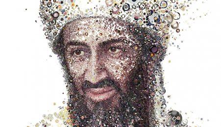 Osama Bin Laden por  Charis Tsevis para a revista Shortlist
