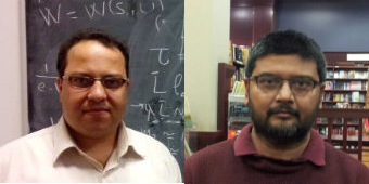 Os físicos Ahmed Farag Ali (esq) e Saurya Das (dir)