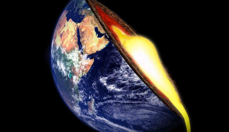 A viscosidade da camada rochosa a 1500 km é 300 vezes maior do que a uma profundidade de 660 km