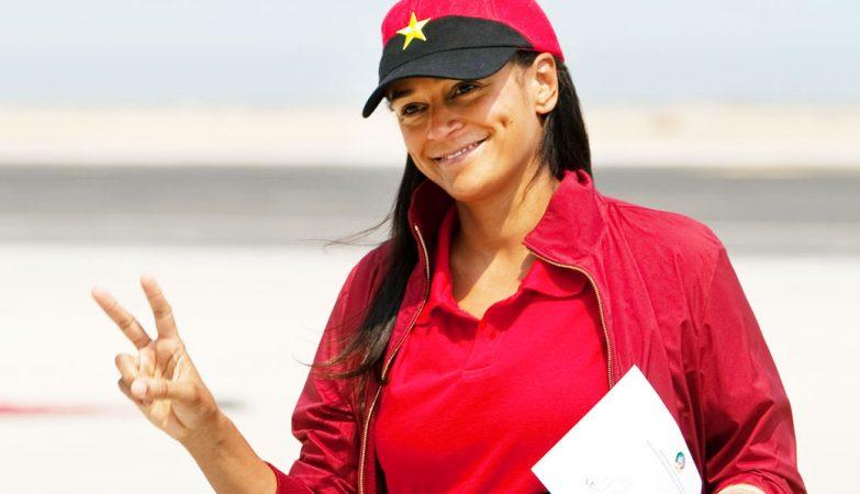 A empresária Isabel dos Santos, filha mais velha do presidente de Angola, José Eduardo dos Santos