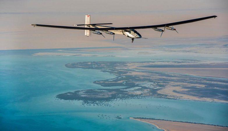 O Solar Impulse 2 em Abu Dhabi