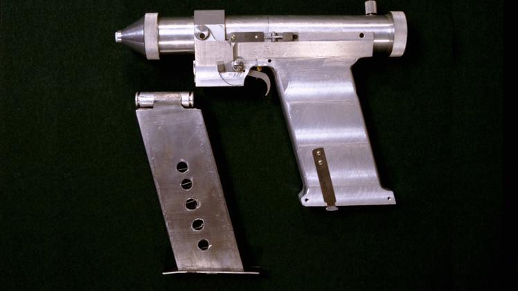 Pistola laser desenvolvida pela Academia Militar de Mísseis Estratégicos da União Soviética em 1984