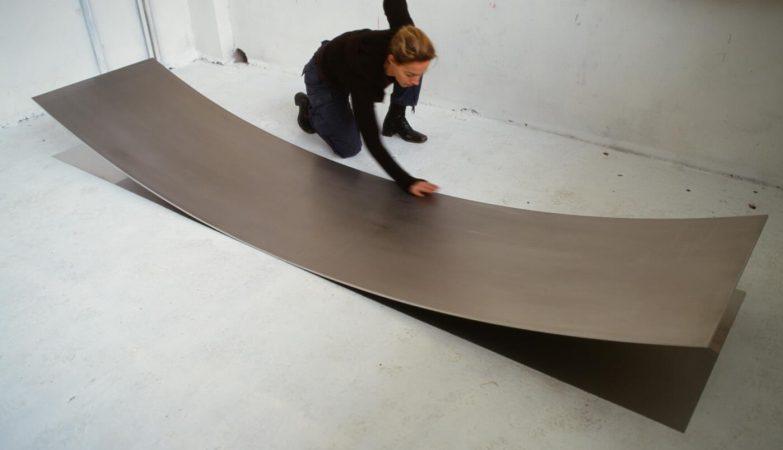 Danae Stratou, no seu antigo estúdio em Atenas. Actualmente, Stratou está radicada em Austin, no Texas, EUA