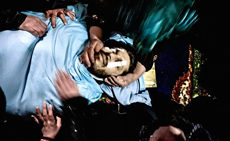 Funeral de Asem Bader Waw, 31 anos, morto por um sniper do exército sírio.