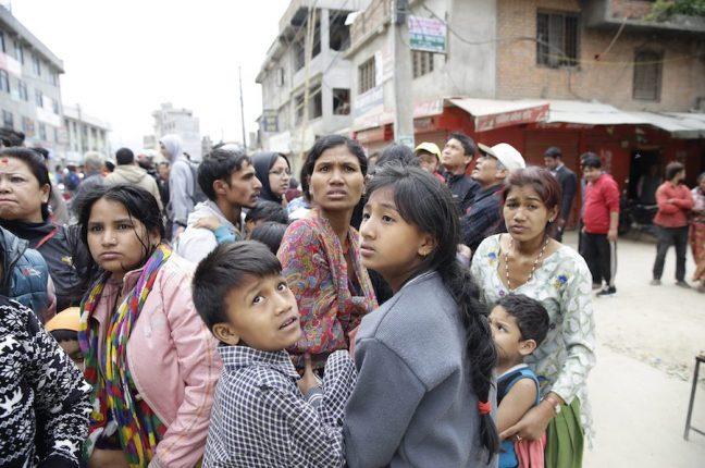 As violentas réplicas do sismo causam pânico junto da população nepalesa
