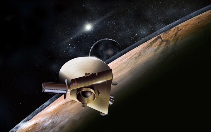 A New Horizons a meio caminho entre Úrano e Neptuno
