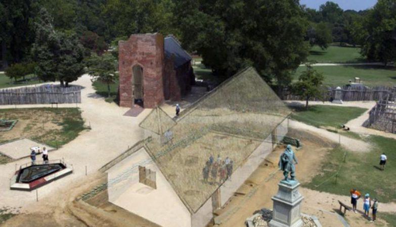 Igreja de Pocahontas em Jameston, Virgina, EUA