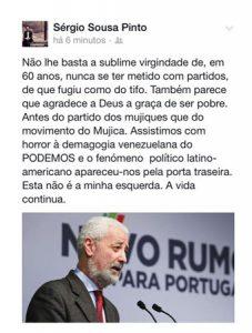 Sérgio Sousa Pinto critica Sampaio da Nóvoa