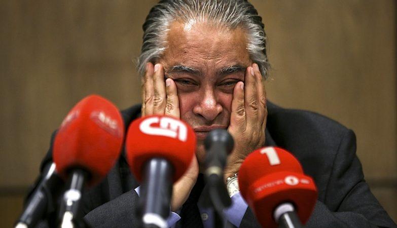 João Araújo, advogado de José Sócrates, durante um encontro com a imprensa