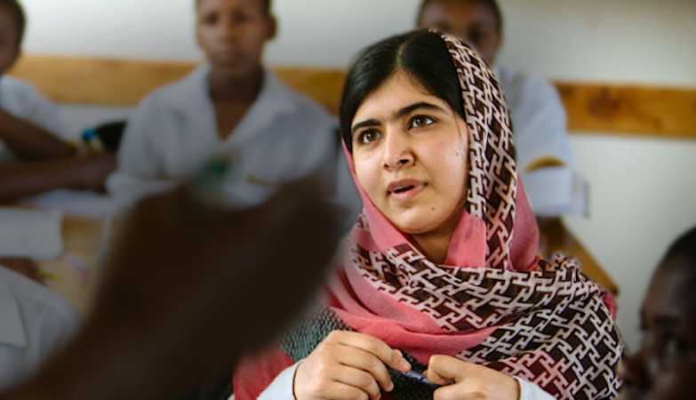 A activista adolescente Malala Yousafzai, Prémio Nobel da Paz