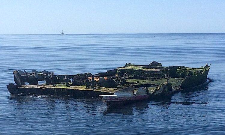 Os restos do barco naufragado em 2011 no Japão que chegou à costa dos EUA