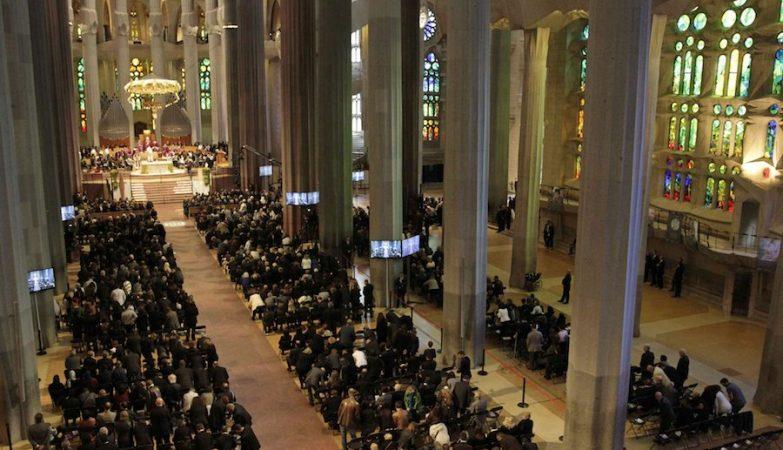 Sagrada Família, Barcelona, cerimónia fúnebre das 150 vítimas do acidente do avião Germanwings nos Alpes