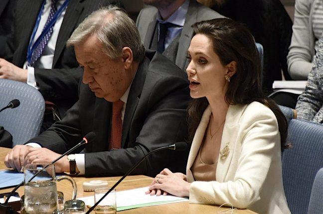 António Guterres, Alto Comissário das Nações Unidas para os Refugiados, esteve sempre ao lado de Angelina Jolie