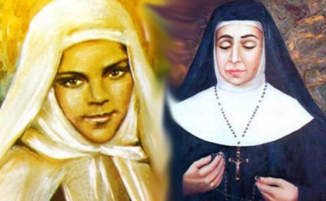 Retratos de Mariam Bawardi (esq.) e Maria Alfonsina Ghattas (dir.)