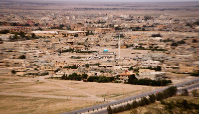 Entardecer na cidade de Palmira, na Síria