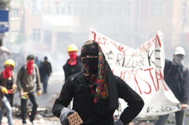 Protestos em Istambul no 1º de Maio