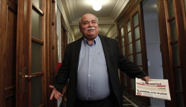 O ministro do Interior e da Reconstrução da Grécia, Nikos Voutsis