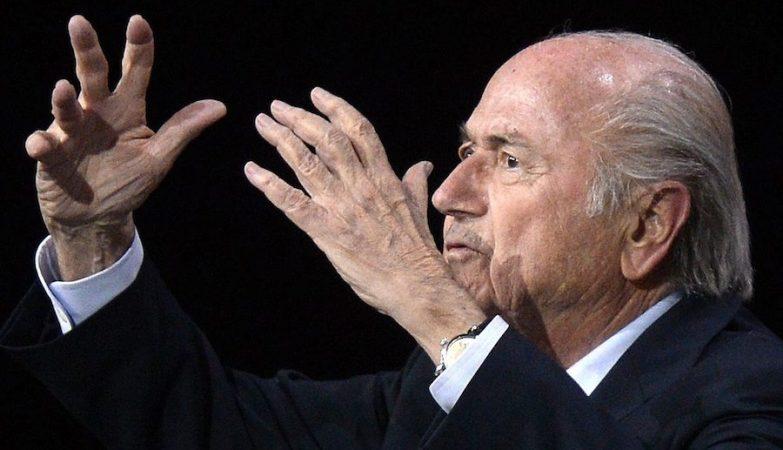 O presidente da FIFA,  Joseph Blatter