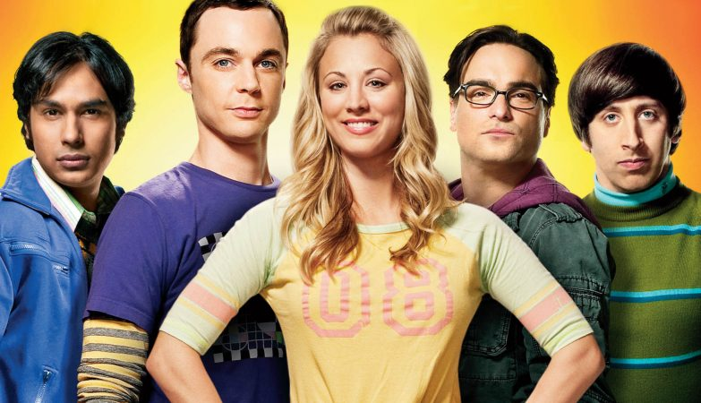 A Teoria do Big bang: Raj, Sheldon, Penny, Leonard, Howard. Bazinga!