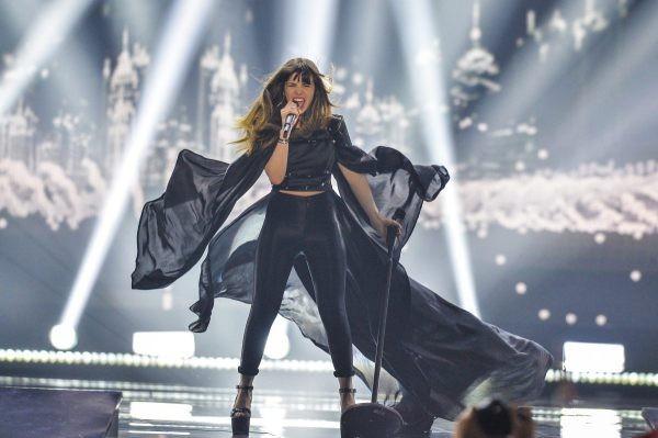 """Leonor Andrade, a representante portuguesa no festival da Eurovisão 2015 com a canção """"Há um mar que nos separa"""", da autoria de Miguel Gameiro"""