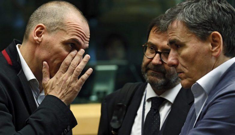 Yanis Varoufakis durante a reunião do Eurogrupo
