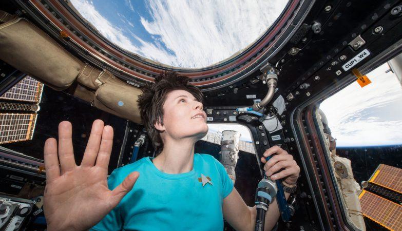 A astronauta Samantha Cristoforetti, a mulher que esteve mais tempo no espaço