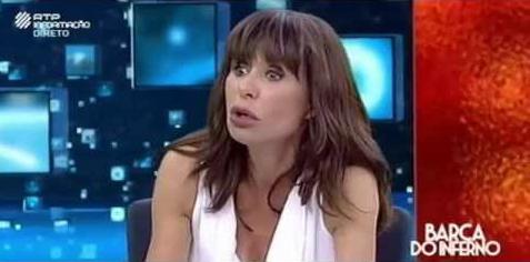 """Manuela Moura Guedes no programa """"Barca do Inferno"""""""