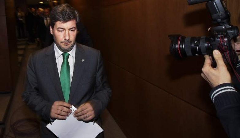 O presidente do Sporting, Bruno de Carvalho