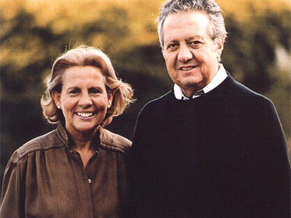 Maria Barroso e Mário Soares numa foto utilizada na campanha presidencial de 1985-1986