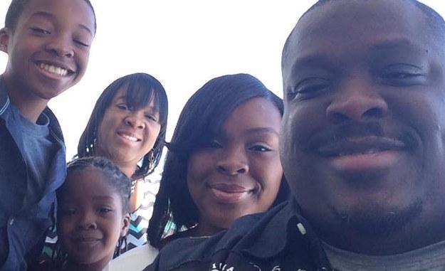 Wayman Gresham e a família