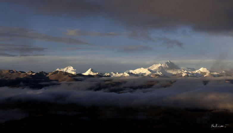 O monte Evereste, a montanha mais alta do Mundo