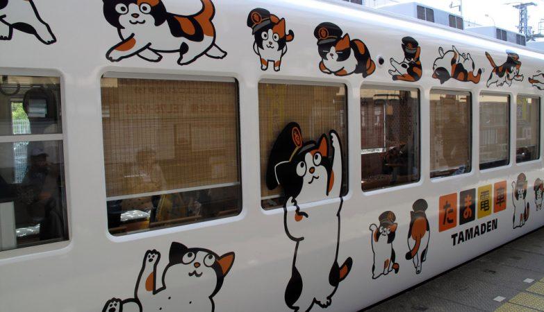 Tama Densha, o comboio da Wakayama Electric Railroad baptizado em honra da gata chefe de estação Tama