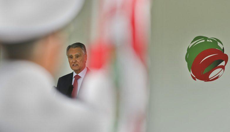 Cavaco Silva durante a cerimónia militar das comemorações do 10 de junho em Lamego