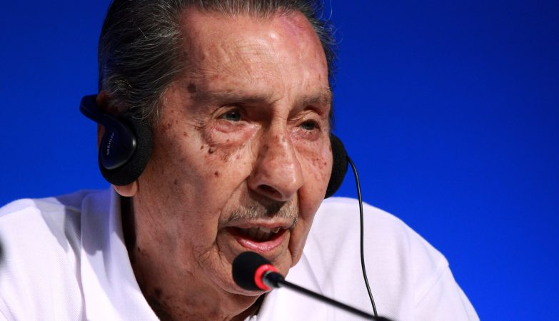 Alcides Ghiggia, autor do golo que deu título ao Uruguai no Maracanazo de 1950