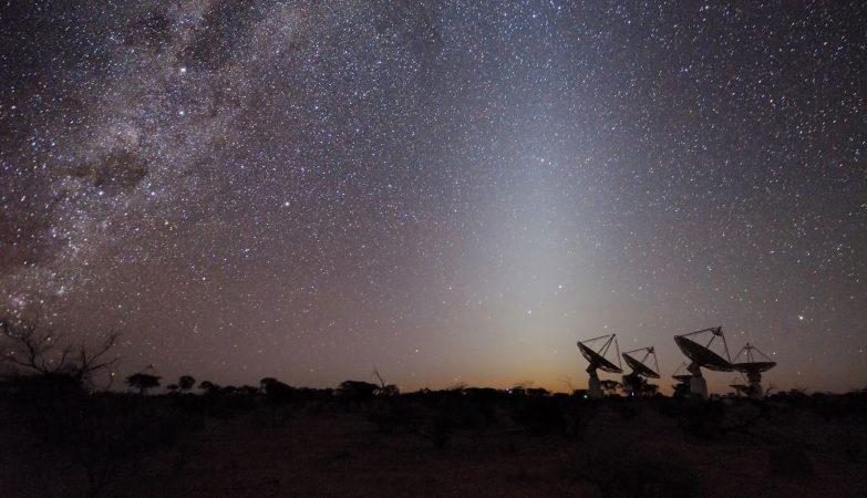 O telescópio australiano SKA Pathfinder captou sinais de uma galáxia a 5 mil milhões de anos-luz