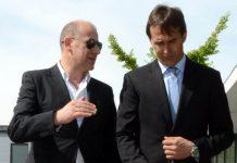 Antero Henrique, vice-presidente do FC Porto, com o treinador portista, Julen Lopetegui
