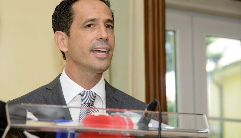 O ex-árbitro Pedro Proença na apresentação da sua candidatura à presidência da Liga Portuguesa de Futebol Profissional