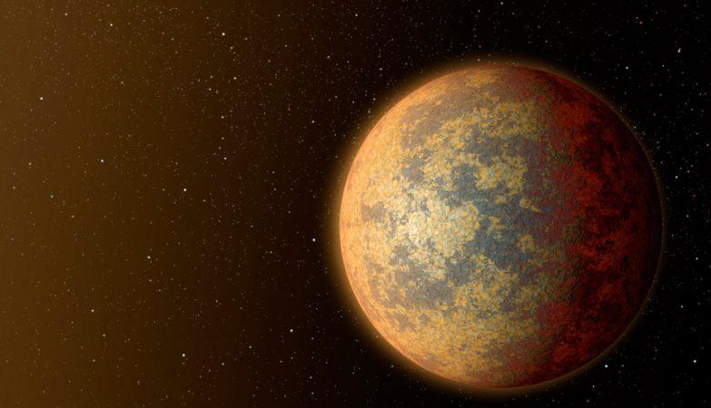 Esboço artístico do exo-planeta HD219134, uma super-Terra