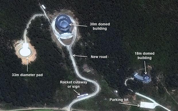 Base militar de lançamento de mísseis de Sohae, na Coreia do Norte