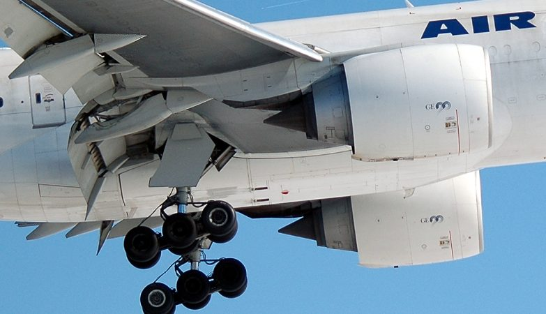 Trem de aterragem de um Boeing 777 da Air France