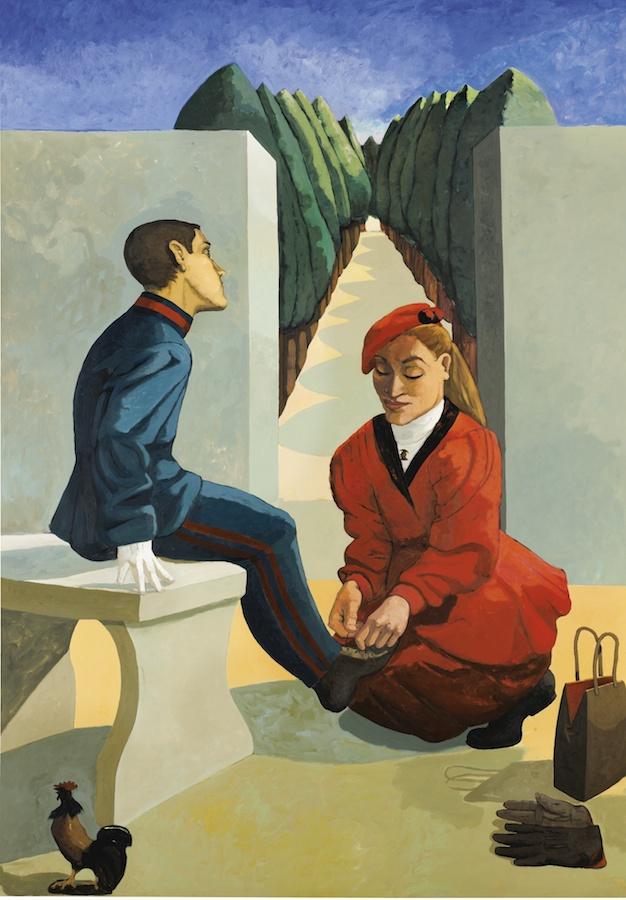 """""""O cadete e a irmã"""", de Paula Rego"""