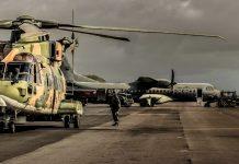 Aeronaves EH-101 Merlin e C-295M da Força Aérea Portuguesa